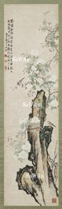 李鱓 掛軸「杜鵑雙雀」