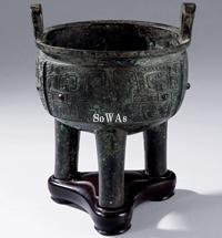 西周 青銅饕餮紋舉鼎