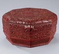 明 剔紅花鳥紋八角食籠