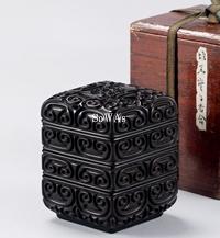 明 剔犀菱形四重香盒
