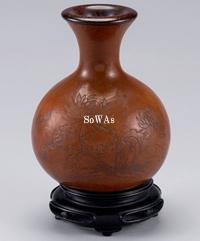 清 道光款菊花紋葫蘆瓶