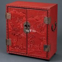 剔紅山水人物紋櫃子