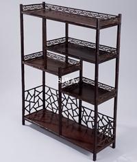 紅木仿竹製茶棚