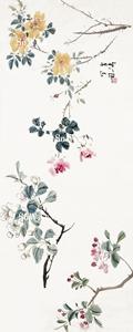 王雪濤「花卉」額装
