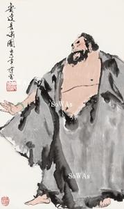范曽「魯達長嘯図」掛軸