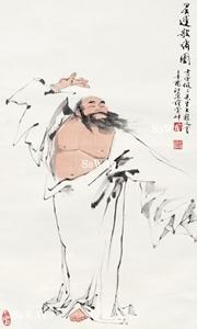 范曽「靈運歌嘯図」掛軸