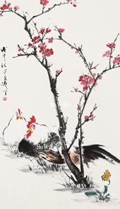 王雪濤「雙吉」掛軸