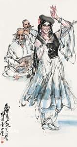 黄冑「舞」額装