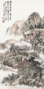 趙雲壑「山水」掛軸