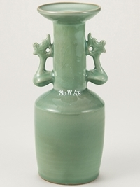 宋 龍泉窯鳳耳瓶