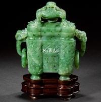 清十八世紀 碧玉香炉