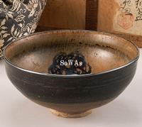 宋 吉州窯剪紙貼團花紋碗