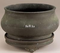 清早期 銅鎏金爐