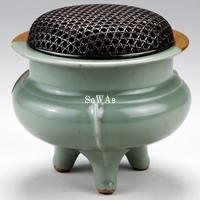 南宋 龍泉窯青磁鬲式炉