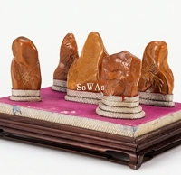 壽山石薄意彫印材五件