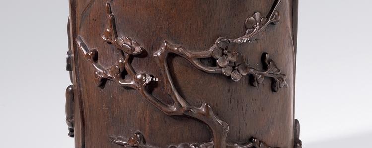 中国骨董品の筆筒