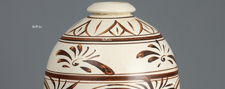 中国骨董品:磁州窯の陶器