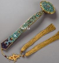清十八世紀 掐絲琺瑯如意