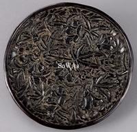 元 堆黒秋葵紋盤