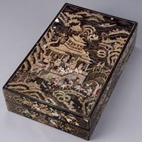 明 螺鈿人物故事紋長方盒