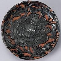 剔黒牡丹紋盘