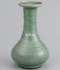 明 龍泉窯青磁荀式瓶