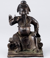 明銅製關帝坐像