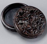 剔黒牡丹紋香盒