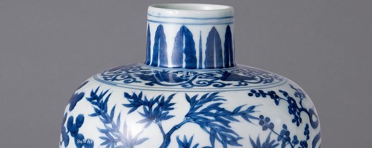 中国骨董品:大明萬暦年製の陶磁器