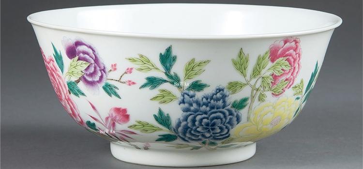 中国骨董品:粉彩(琺瑯彩)の陶磁器
