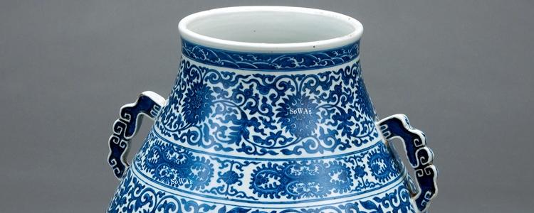 中国骨董品:大清乾隆年製の陶磁器