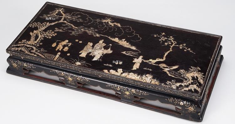 中国骨董品の螺鈿細工