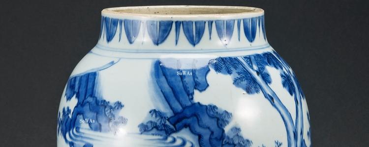 中国骨董品の染付(青花)