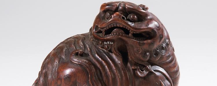 中国骨董品の竹彫り