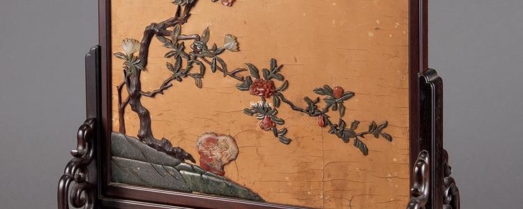 中国骨董品の衝立